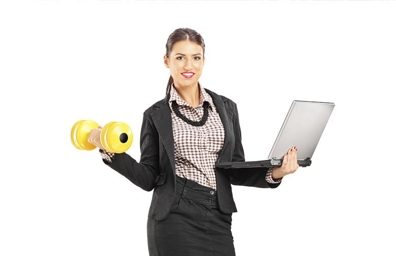 woman-working-out-in-office-attire